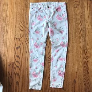 Free People Rose and Cream Skinny Jeans 27